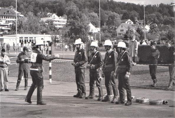 Chef Hans Thut und seine Mannschaft, v. li. Stöff Jenny / Res Dürst / Melchior Dürst / Germain Spielmann