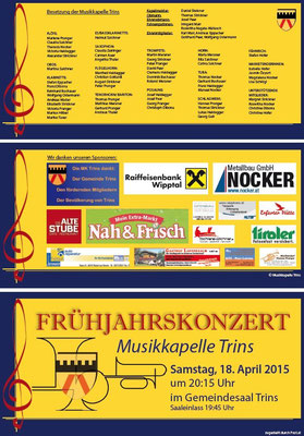 Konzertprogramm Seite 1