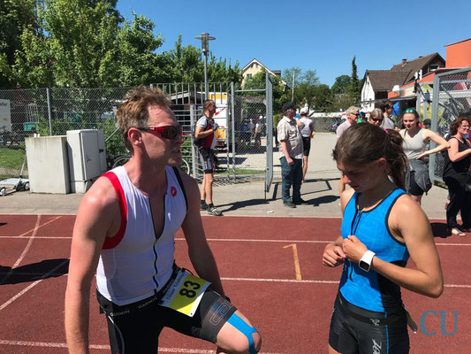 Daniela Kleiser mit Erik Marbach - Bad Tölz Triathlon 2017 (1)