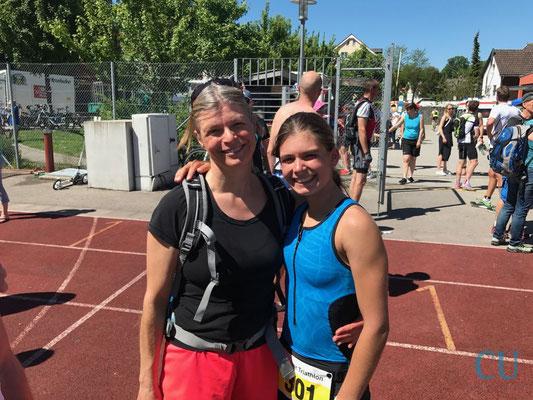 Daniela Kleiser mit ihrer Mama - Bad Tölz Triathlon 2017
