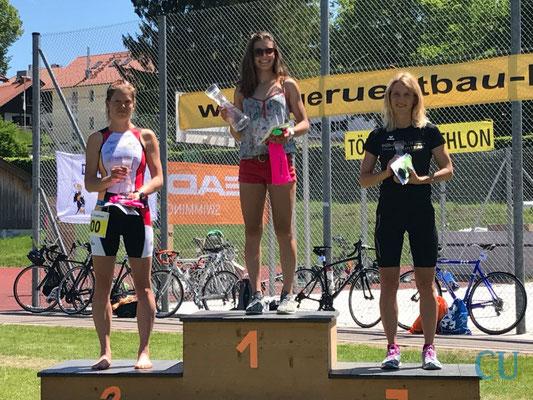 Daniela Kleiser auf dem Siegertreppchen - Bad Tölz Triathlon 2017