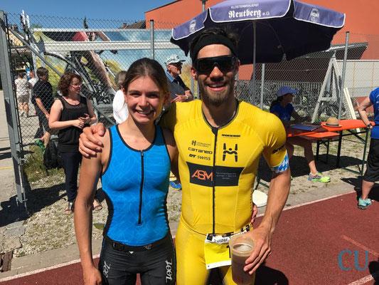 Daniela Kleiser mit Markus Hörmann - Bad Tölz Triathlon 2017