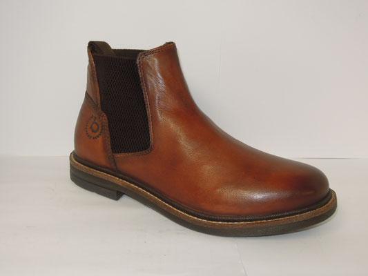 Bugatti - boots 2elastiques - cuir cognac - 110€