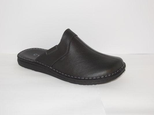 mule en cuir noir - 45.95€