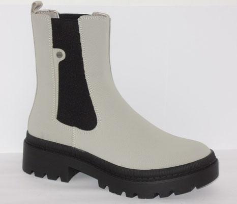 Boots - 2 élastiques - nubuck grège - talon 3 cm - 69.95€