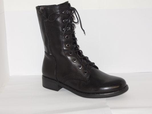 Regarde le ciel - bottine+zip - cuir noir - 140€
