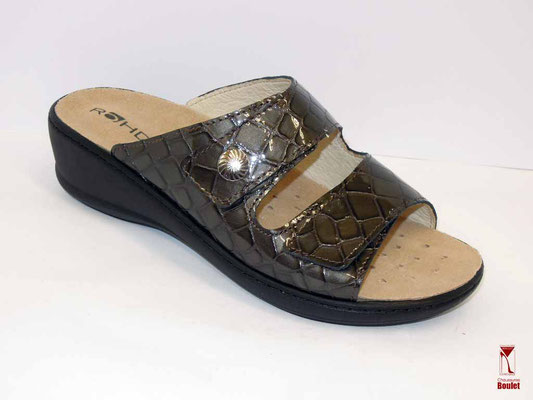 """Mules - Rohde - Taupe """"croco"""" - 59.95 €"""