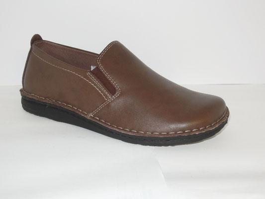 Pantouble cuir marron - 59.95€