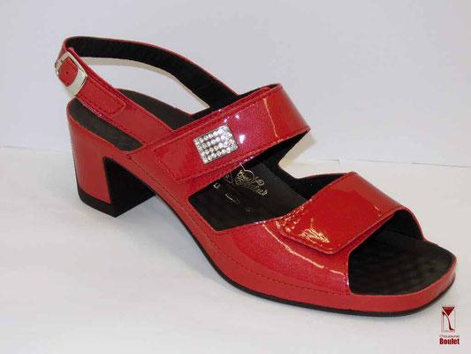 Chaussures de confort - Vital - Rouge vernis - 120 €
