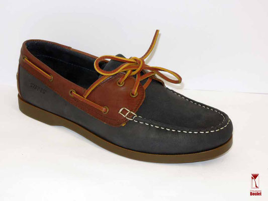 Chaussures - Cypres - Marine et Cognac - 85.95 €