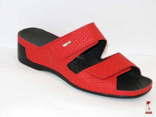 Chaussures de confort - Vital - Rouge tressé - 108 €