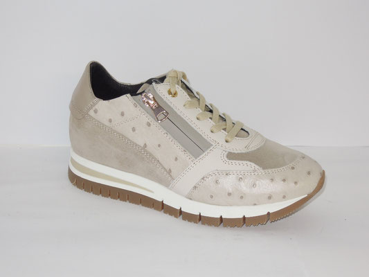 Sneaker - cuir+multimatières mastic -159€