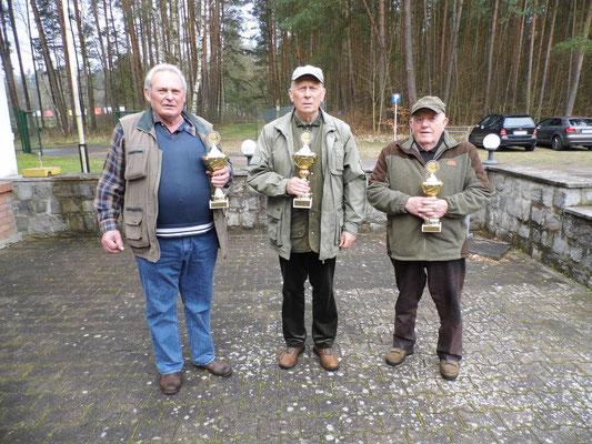 von links nach rechts: Burkhard Kühl, Jürgen Gottschlich und Heinz Müller