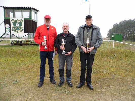 von links nach rechts: Werner Fröhlich, Bernd Rüster und Bernd Wessel