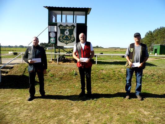 Gewinner der Seniorenklasse A von links nach rechts: Dirk Bartschies, Werner Fröhlich und Michael Lindner