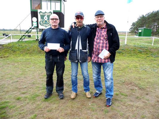 von links nach rechts: Bernd Rüster 2.Platz, Dr. Klaus-Rüdiger Ganz 1.Platz und Frank Hoellge 3.Platz
