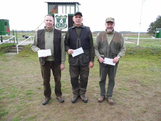 von links nach rechts: Dirk Bartschies 2.Platz, Gunther Greiff 1.Platz und Dr. Thorsten Wendt 3.Platz