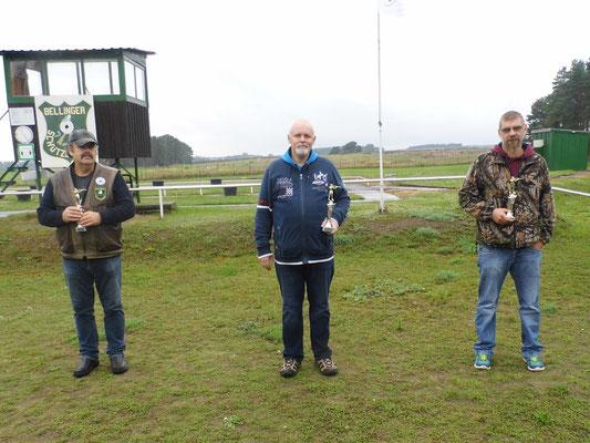 Gewinner KK LW Männer von links nach rechts: Frank Hügelow, Roberto Greiff und Kai Pankau