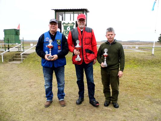 von links nach rechts: Frank Hoellge 2.Platz, Werner Fröhlich 1.Platz und Karsten Pietschker 3.Platz
