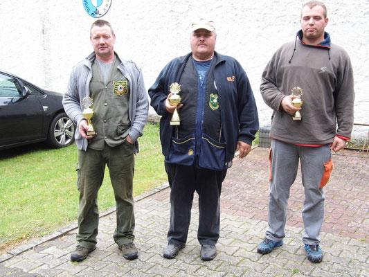 von links nach rechts: Andre Stuth 2.Platz, Andreas Pietz 1. Platz und Tobias Höppner 3.Platz