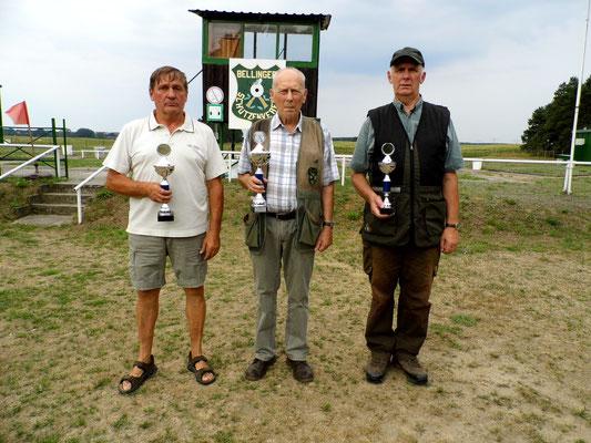 von links nach rechts: Bernd Dresler, Jürgen Gottschlich und Gunther Greiff
