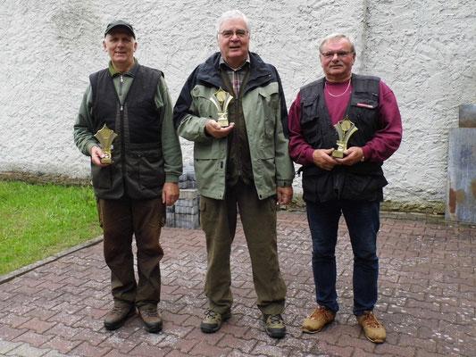 von links nach rechts: Gunther Greiff, Josef Berges und Harry Müller