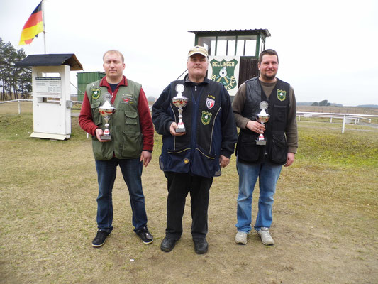 von links nach rechts: Michael Lehmann 2.Platz, Andreas Pietz 1.Platz und Pierre Podein 3.Platz