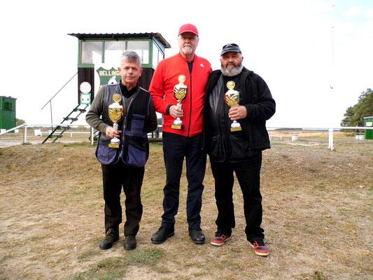 von links nach rechts: Karsten Pietschker 2.Platz, Werner Fröhlich 1.Platz und Ulrich Tietz 3.Platz