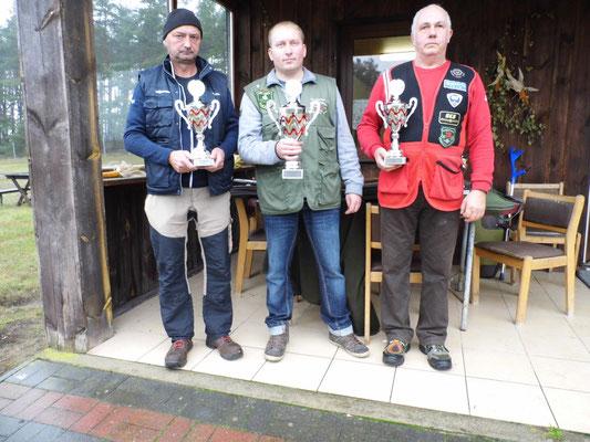 von links nach rechts: Stephan Klotzer 2.Platz, Michael Lehmann 1.Platz und Henry Hafenstein 3.Platz