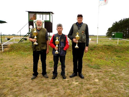 von links nach rechts: Burkhard Norbut 2.Platz, Karsten Pietschker 1.Platz und Bernd Wessel 3.Platz