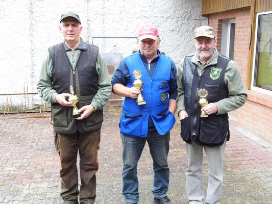 von links nach rechts: Gunther Greiff 2.Platz, Roland Seibt 1.Platz und Dr. Thorsten Wendt 3.Platz