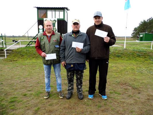 von links nach rechts: Michael Lehmann 2.Platz, Andreas Pietz 1.Platz und René Hafenstein 3.Platz