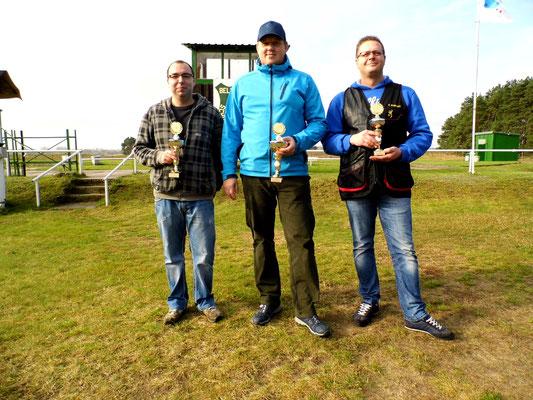 von links nach rechts: Sandro Schaffranke 2.Platz, René Hafenstein 1.Platz und Tino Fröhlich 3.Platz