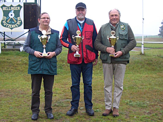 von links nach rechts: Winfried Preuß 2.Platz, Werner Fröhlich 1.Platz und Lutz Hafenstein 3.Platz