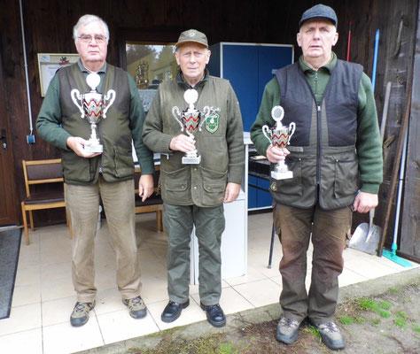 von links nach rechts: Josef Berges 1.Platz, Jürgen Gottschlich 2.Platz und Gunther Greiff 3.Platz