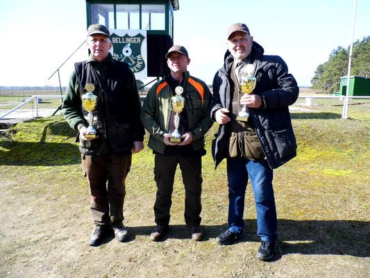 von links nach rechts: Gunther Greiff 2.Platz, Hans Jürgen Ulfig 1.Platz und Rainer Grossmann 3.Platz