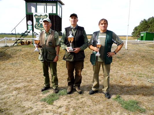 Gewinner der Seniorenklasse B von links nach rechts: Jürgen Gottschlich, Gunther Greiff und Bernd Dresler
