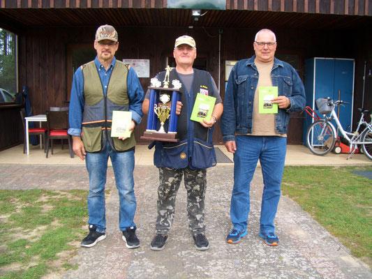 von links nach rechts: Harald Truschinski 2.Platz, Andreas Pietz 1.Platz und René Nitzsche 3.Platz