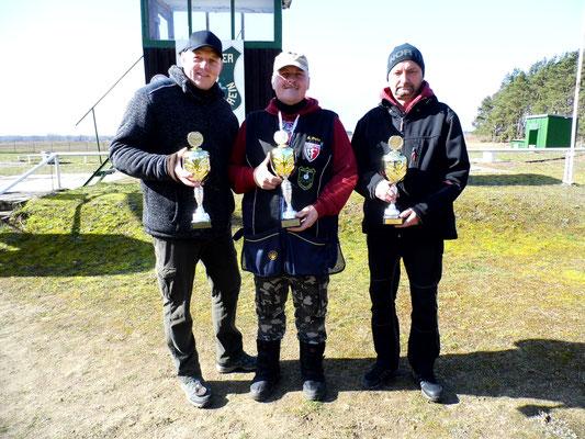 von links nach rechts: René Hafenstein 2.Platz, Andreas Pietz 1.Platz und Stephan Klotzer 3.Platz