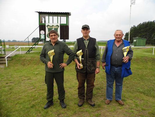 Gewinner der Seniorenklasse B von links nach rechts: Bernd Dresler, Gunther Greiff und Burghard Kühl