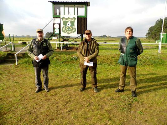 von links nach rechts: Dr. Thorsten Wendt 2.Platz, Hans Jürgen Ulfig 1.Platz und Bernd Dresler 3.Platz