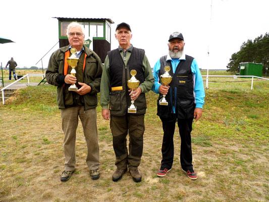 von links nach rechts: Josef Berges 2.Platz, Gunther Greiff 1.Platz und Ulrich Tietz 3.Platz
