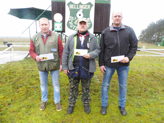von links nach rechts: Michael Lehmann 2.Platz, Andreas Pietz 1.Platz und Torsten Laas 3.Platz