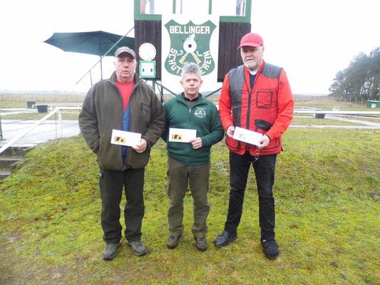 von links nach rechts: Henry Hafenstein 2.Platz, Karsten Pietschker 1.Platz und Werner Fröhlich 3.Platz
