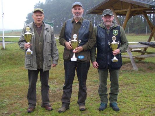 von links nach rechts: Jürgen Gottschlich 1.Platz, Rainer Grossmann 2.Platz und Dr. Thorsten Wendt 3.Platz