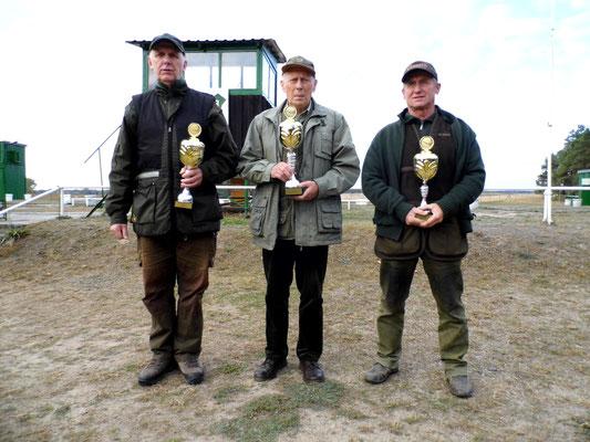 von links nach rechts: Gunther Greiff 2.Platz, Jürgen Gottschlich 1.Platz und Hans Jürgen Ulfig 3.Platz