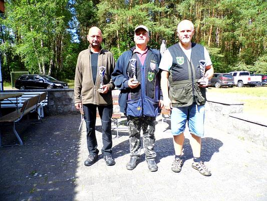 von links nach rechts: Stephan Klotzer 2.Platz, Andreas Pietz 1.Platz und Roberto Greiff 3.Platz