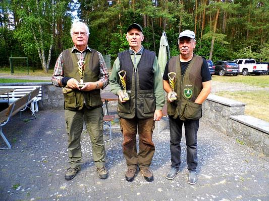 von links nach rechts: Josef Berges 2.Platz,  Gunther Greiff 1.Platz und Wolfgang Mante 3.Platz