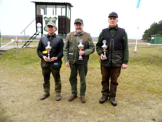 von links nach rechts: Hans Jürgen Ulfig 2.Platz, Dr. Thorsten Wendt 1.Platz und Gunther Greiff 3.Platz