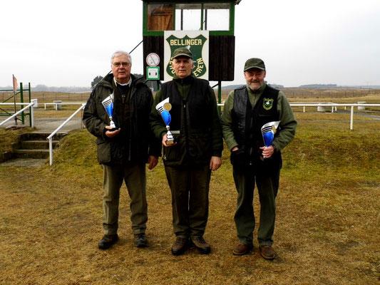 von links nach rechts: Josef Berges 2.Platz, Gunther Greiff 1.Platz und Dr. Thorsten Wendt 3.Platz